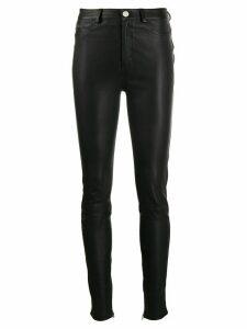 Karl Lagerfeld leather biker trousers - Black