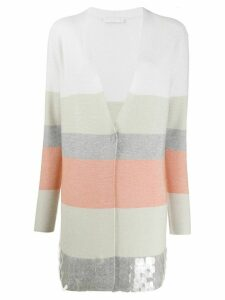 Fabiana Filippi colour-block cardigan - NEUTRALS