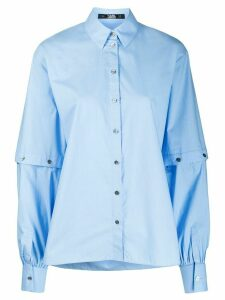Karl Lagerfeld cut-out sleeve shirt - Blue