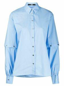 Karl Lagerfeld cut-out sleeve shirt - Blue