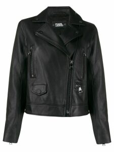 Karl Lagerfeld Ikonik leather biker jacket - Black