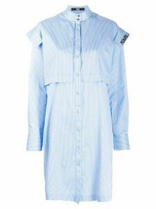Karl Lagerfeld striped poplin dress - Blue