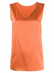 Fabiana Filippi satin tank top - ORANGE