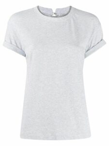 Brunello Cucinelli round-neck beaded T-shirt - Grey