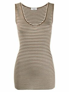 Brunello Cucinelli striped tank top - NEUTRALS