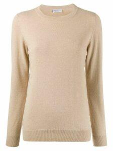 Brunello Cucinelli crew-neck cashmere pullover - NEUTRALS