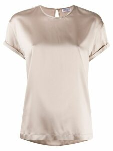 Brunello Cucinelli rolled-up sleeve blouse - NEUTRALS