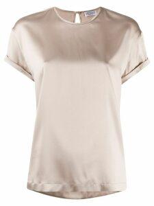 Brunello Cucinelli rolled-up sleeve blouse - NEUTRALS