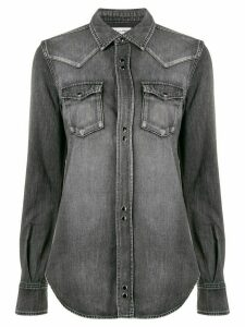 Saint Laurent western denim shirt - Grey