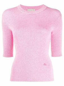 Etro short-sleeve fitted jumper - PINK