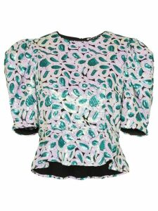 Rotate christina sequin embellished top - Green