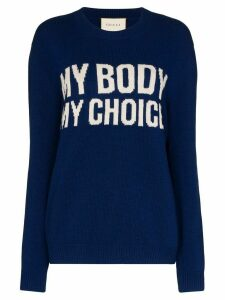 Gucci My Body My Choice wool jumper - Blue