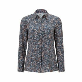 Jigsaw Leopard Silk Shirt