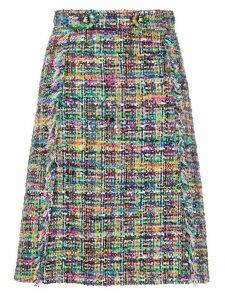 Etro tweed A-line skirt - NEUTRALS