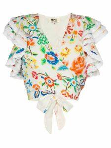 All Things Mochi Bviola floral-print blouse - White