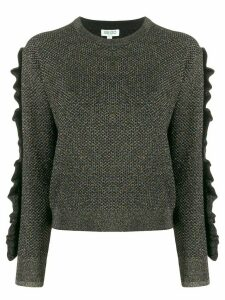 Kenzo metallized ruffled jumper - Black