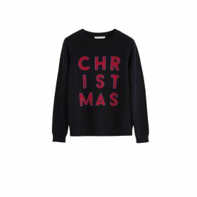 Chinti & Parker Navy Christmas Wool-cashmere Sweater