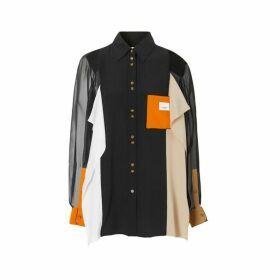 Burberry Colour Block Silk Shirt
