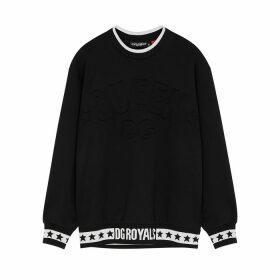 Dolce & Gabbana Millennials Star Black Jersey Sweatshirt