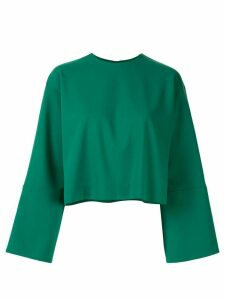 Le Ciel Bleu oversized-fit cropped sweatshirt - Green