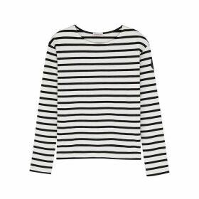 Moncler Mariniere Striped Cotton Top