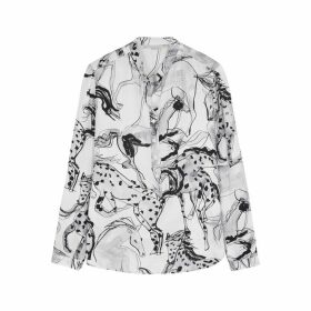 Stella McCartney Eva Printed Silk-satin Shirt