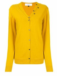 Le Ciel Bleu V-neck layered cardigan - Yellow