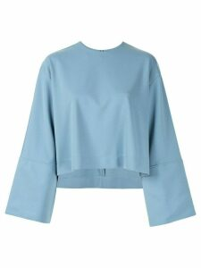 Le Ciel Bleu oversized-fit cropped sweatshirt - Blue