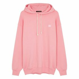 Acne Studios Farrin Face Pink Cotton Sweatshirt