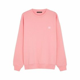 Acne Studios Forba Face Pink Cotton Sweatshirt