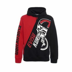 Evisu Color-blocking Dirt Bike-style Hoodie
