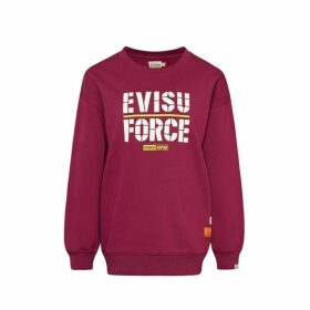 Evisu Sweatshirt With Kamon And Evisu Force Print