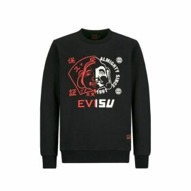 Evisu Sweatshirt With Mixed Godhead Print