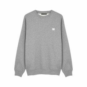 Acne Studios Forba Face Grey Cotton Sweatshirt