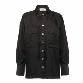 Lisou Alanna Black Boyfriend Silk Shirt