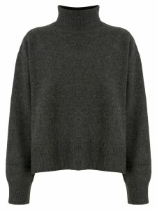 Le Ciel Bleu turtleneck relaxed-fit jumper - Grey