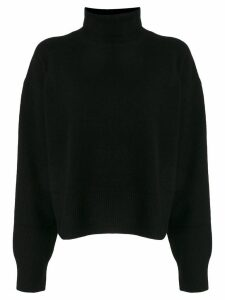 Le Ciel Bleu turtleneck relaxed-fit jumper - Black