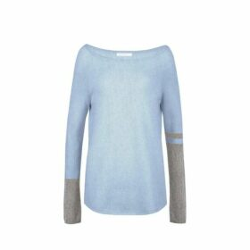 Duffy Raglan Boat Neck With Colorblock Sleeves