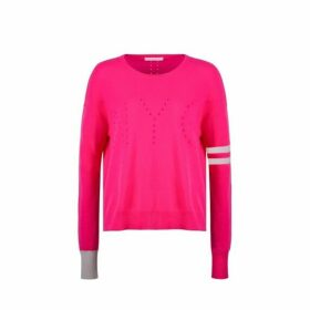 Duffy Pointelle Nyc Colorblock Pullover