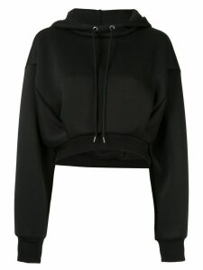 Le Ciel Bleu oversized-fit cropped hoodie - Black