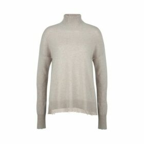 Duffy Frayed Turtleneck Tunic