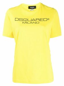 Dsquared2 logo print T-shirt - Yellow