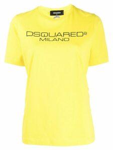 Dsquared2 logo print T-shirt - Yellow