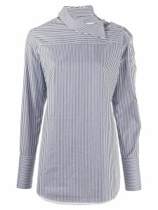 Victoria Victoria Beckham striped long-sleeve shirt - Blue