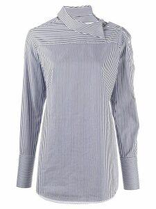 Victoria Victoria Beckham striped long-sleeve shirt - Blue