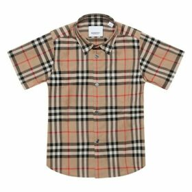 Burberry Beige Checked Shirt