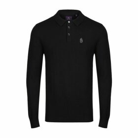 Luke 1977 Magnesium Knitted Polo Jet Black