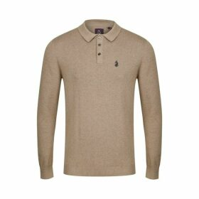 Luke 1977 Magnesium Knitted Polo Mrl Oatmeal