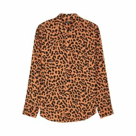 Rails Katheryn Brown Jaguar-print Shirt
