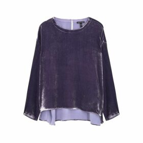 EILEEN FISHER Purple Velvet Top